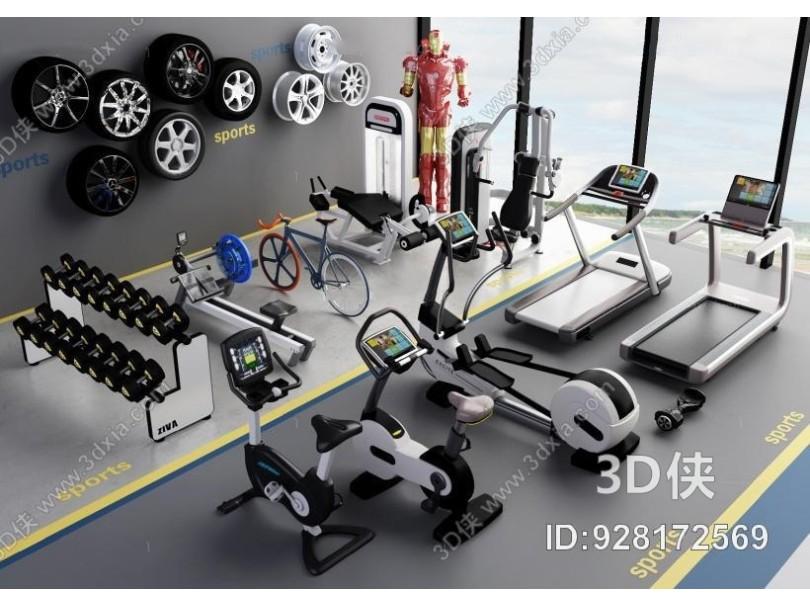 现代健身器材 现代健身房 健身器材