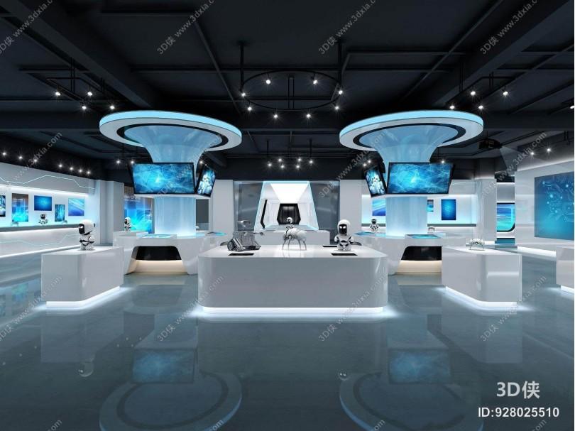 现代科技展厅 现代展厅 科技展 机器人 展台 电子展示屏