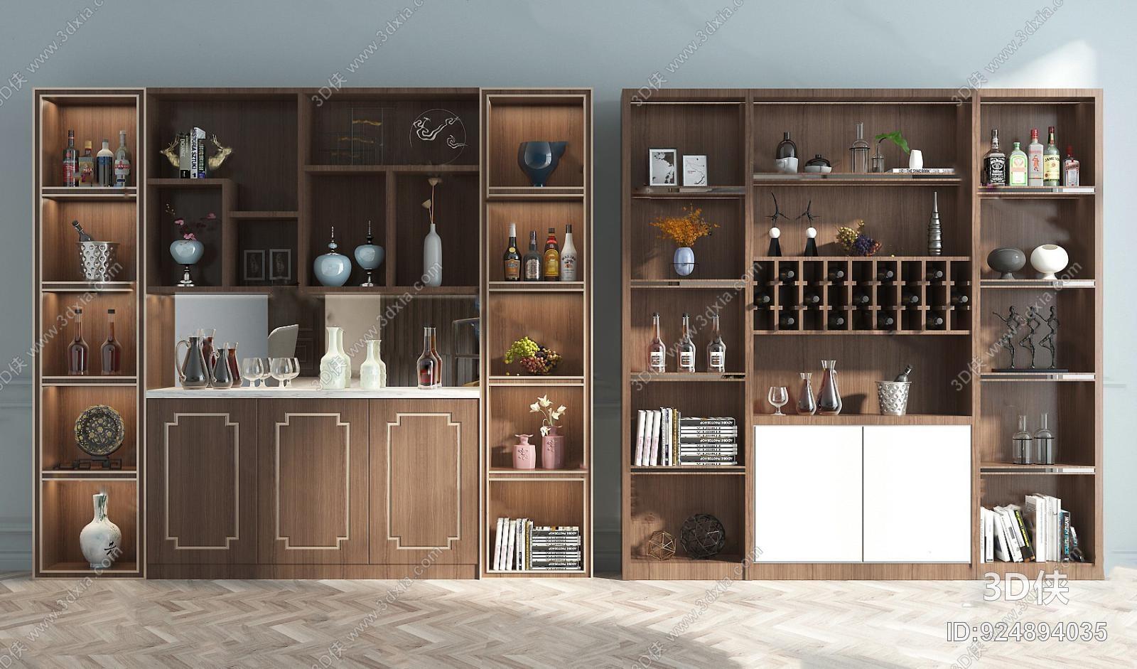 380浏览数95次下载 3d侠模型网提供精美好看的现代 酒柜效果图素材