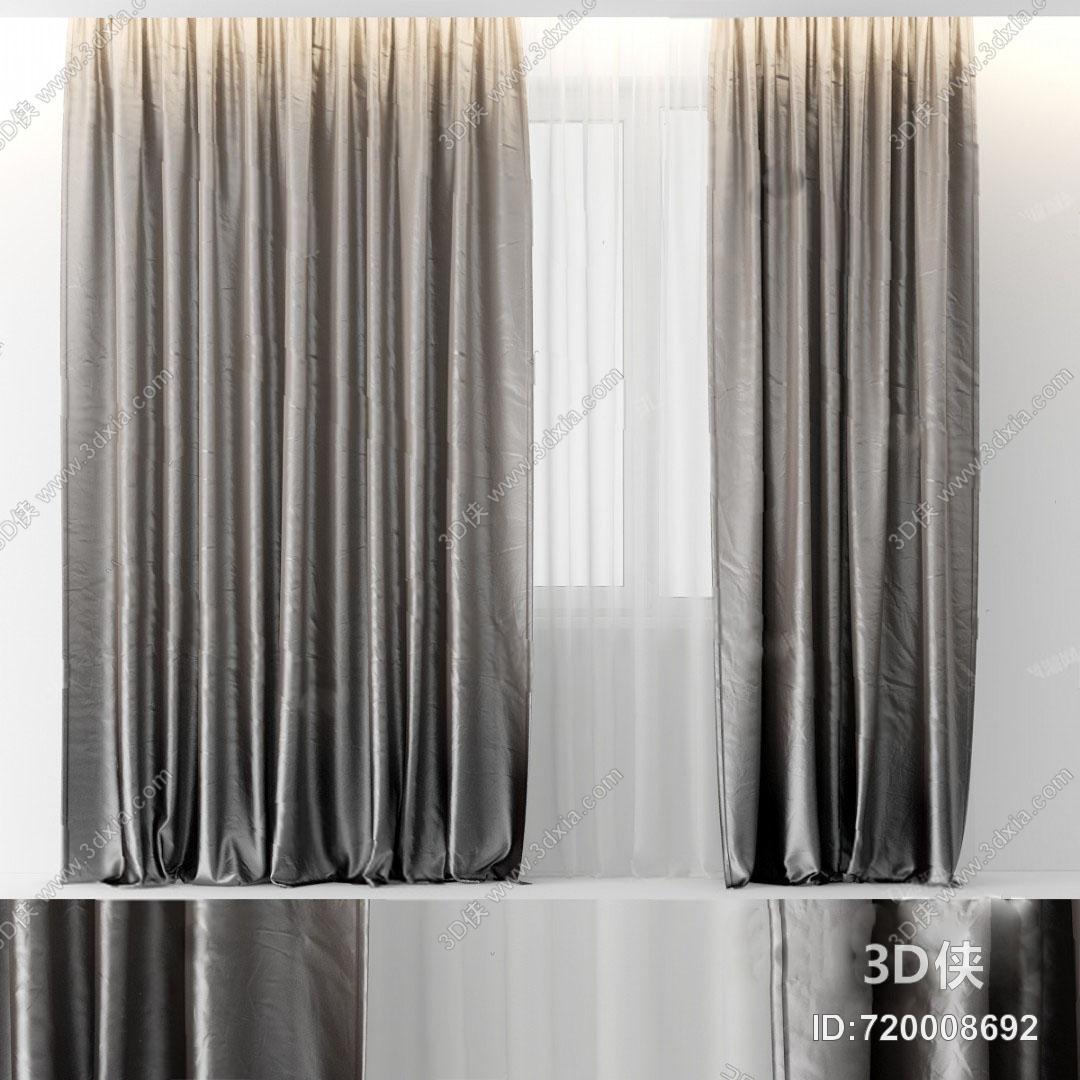 格式是max2010,建议使用3dmax 2012 软件打开,该现代窗帘图片素材大小