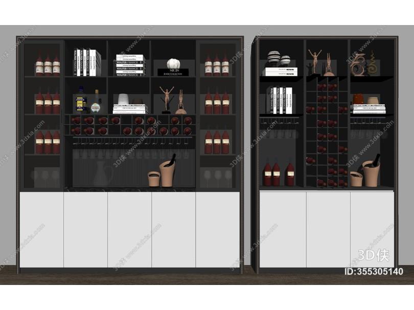 好看的现代风格橱柜效果图素材免费下载,本作品主题是现代酒柜组合