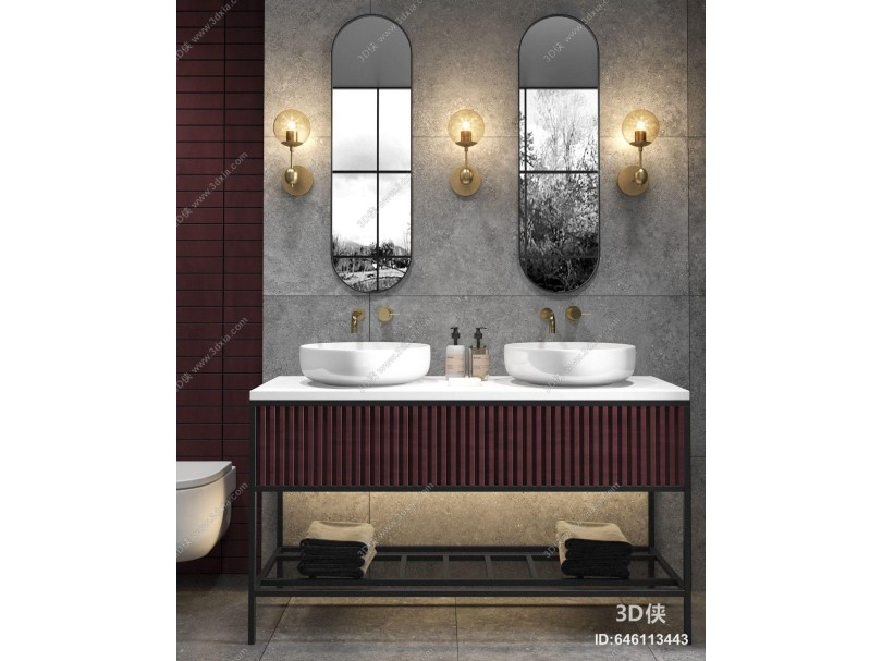 现代卫浴台盆组合