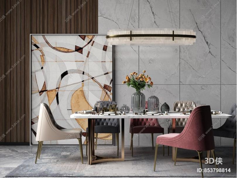 现代简欧餐桌椅
