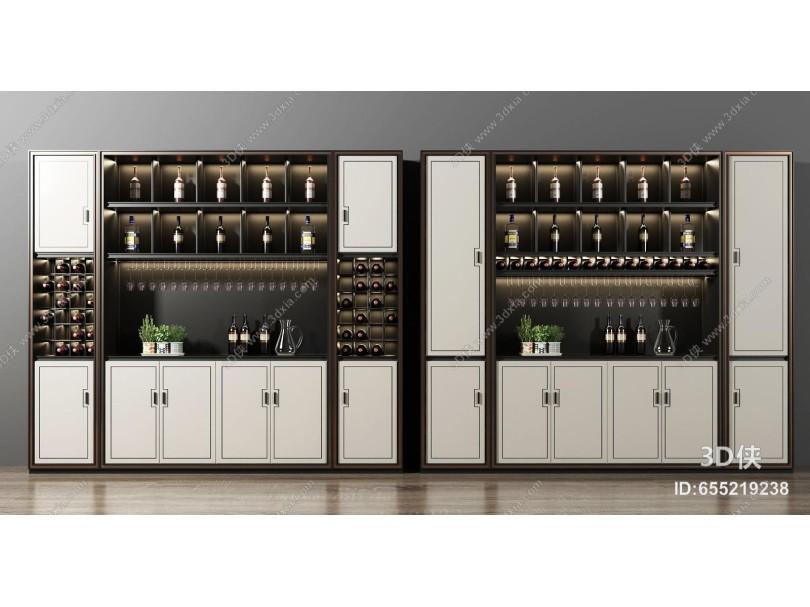 收藏 分享 标签 模型描述3d侠模型网提供精美好看的新中式酒柜效果图