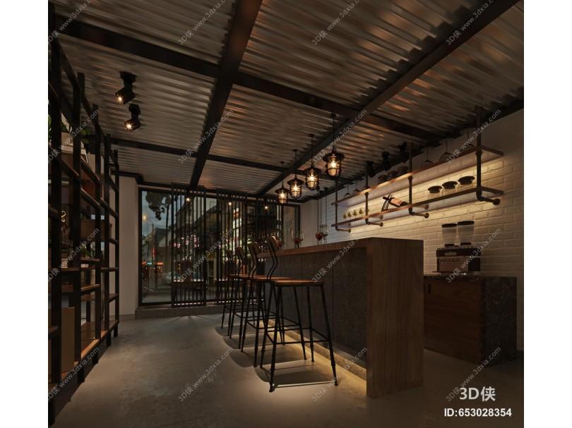 工业风咖啡厅 咖啡吧