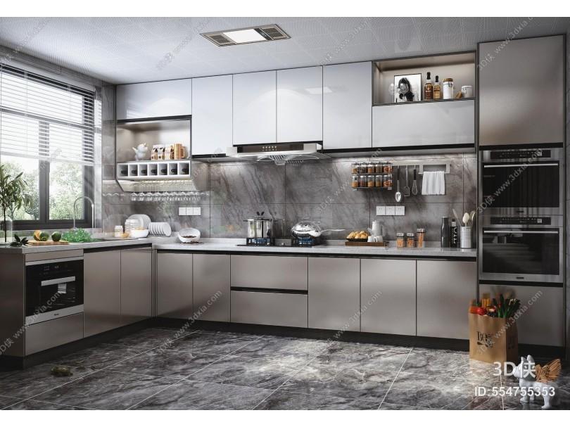 纠错 收藏 分享 标签 模型描述3d侠模型网提供精美好看的现代厨房效果