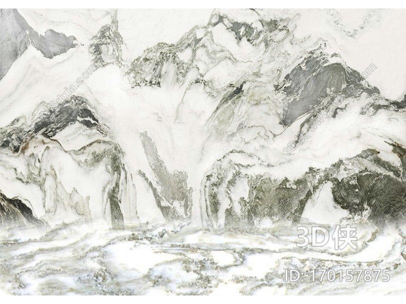 白色大理石 山水纹 山水纹大理石