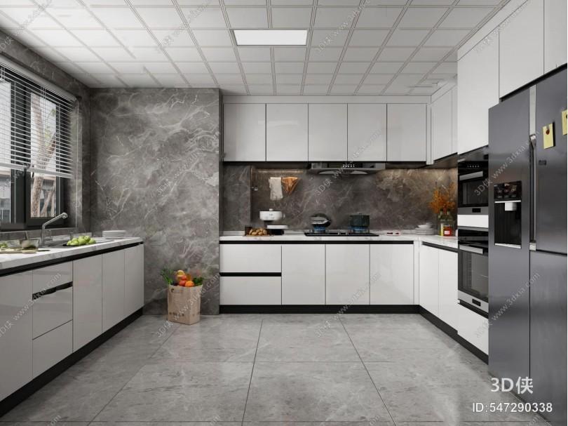現代廚房3d模型