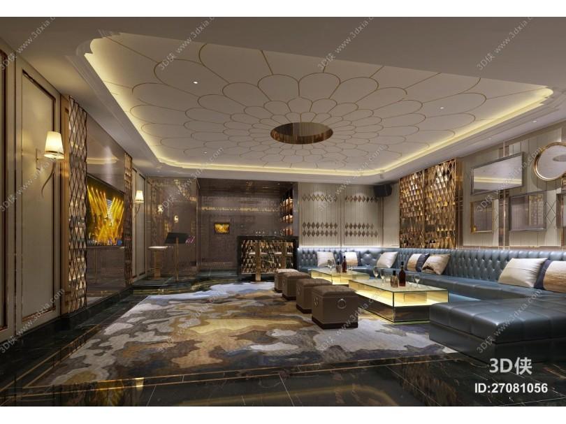 现代酒店ktv包房3d模型