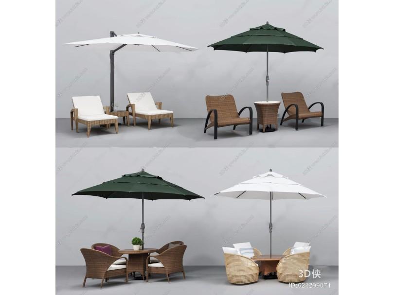 户外椅遮阳伞组合 现代体娱器材