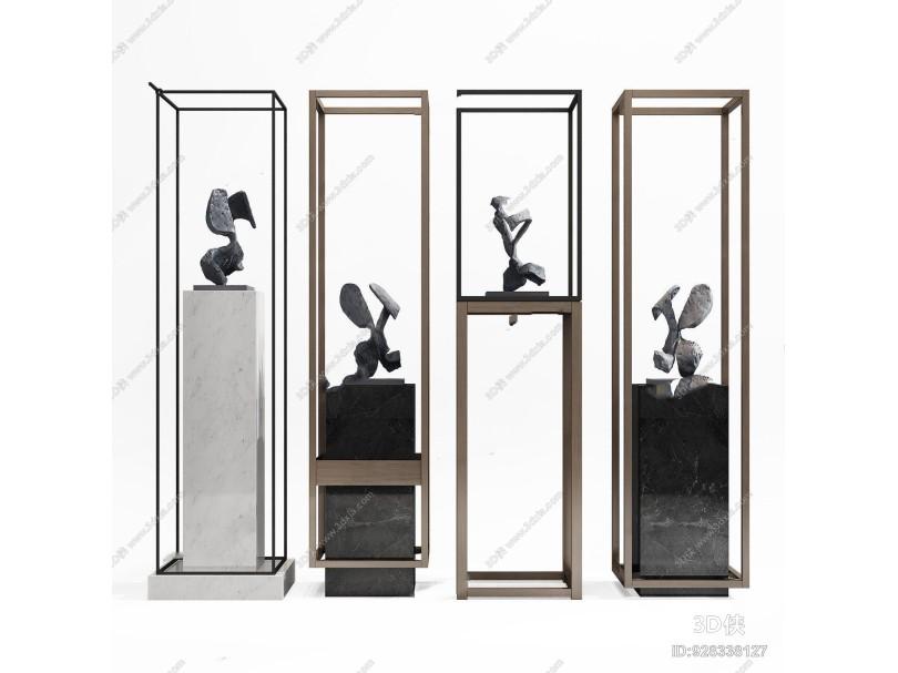 新中式雕塑饰品架 新中式摆件 饰品架 雕塑 装饰品 摆件