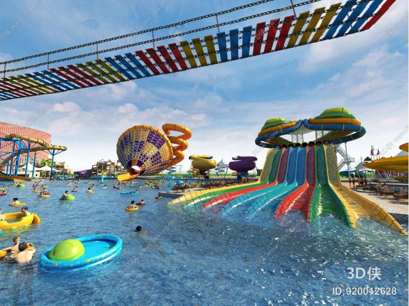 游乐园3D模型