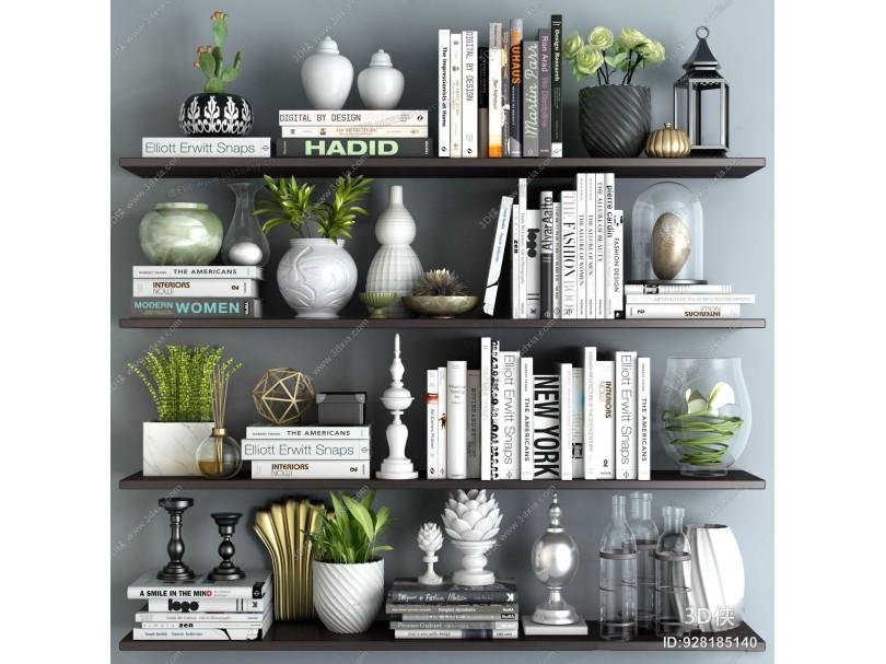 现代层板装饰架 墙面展示架 层板 书籍 书架 盆栽 绿植 摆件组合 北欧装饰架 摆件 陈设 墙饰 工艺品