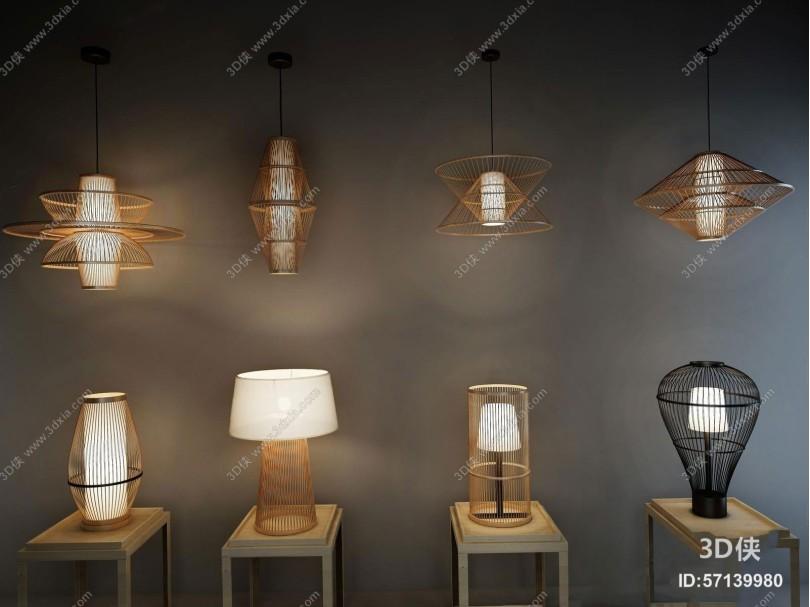 新中式禅意吊灯台灯集合