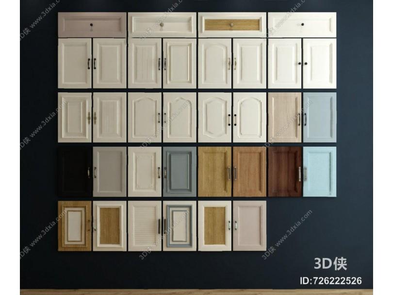 现代柜门3D模型