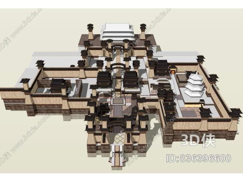 洛阳城SU模型