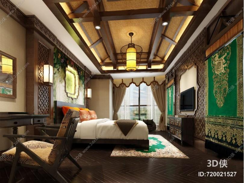 客房3D模型