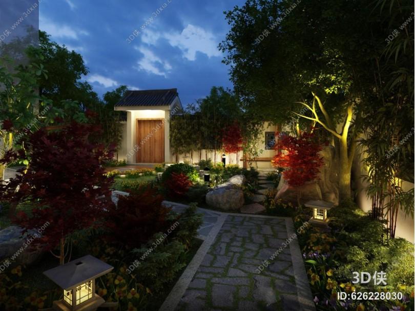 中式庭院3D模型