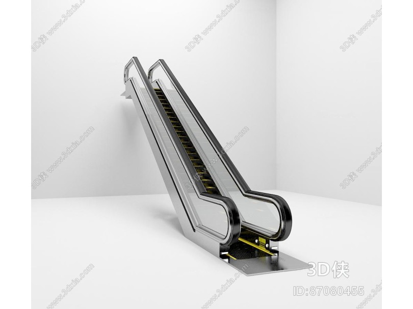 现代扶手电梯3d模型
