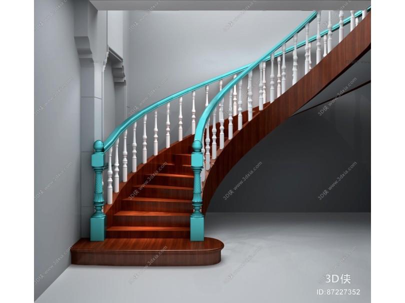 欧式楼梯3D模型