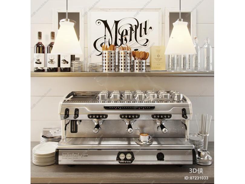 现代商用咖啡机3D模型