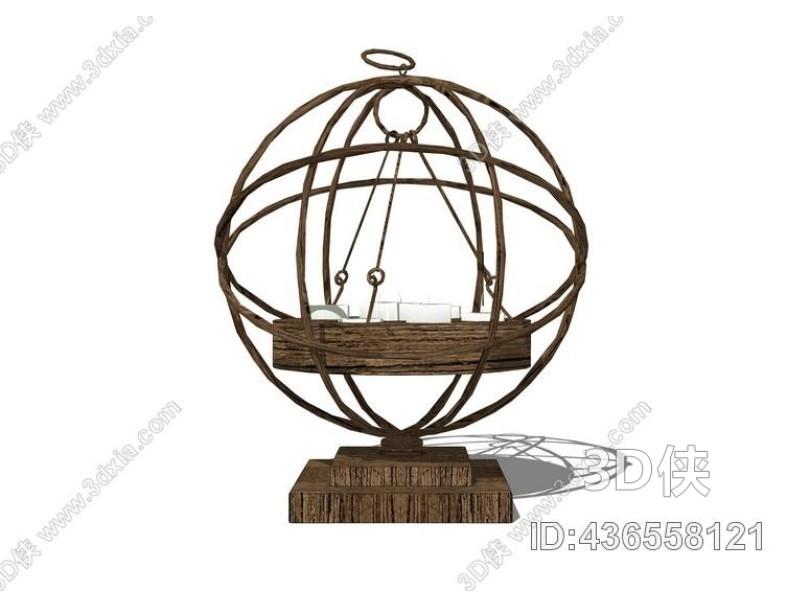 烛台灯SU模型