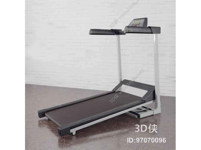 现代跑步机健身器材3D模型