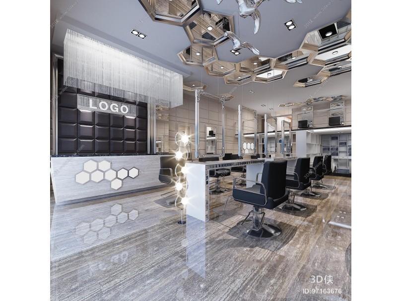 现代理发店3D模型
