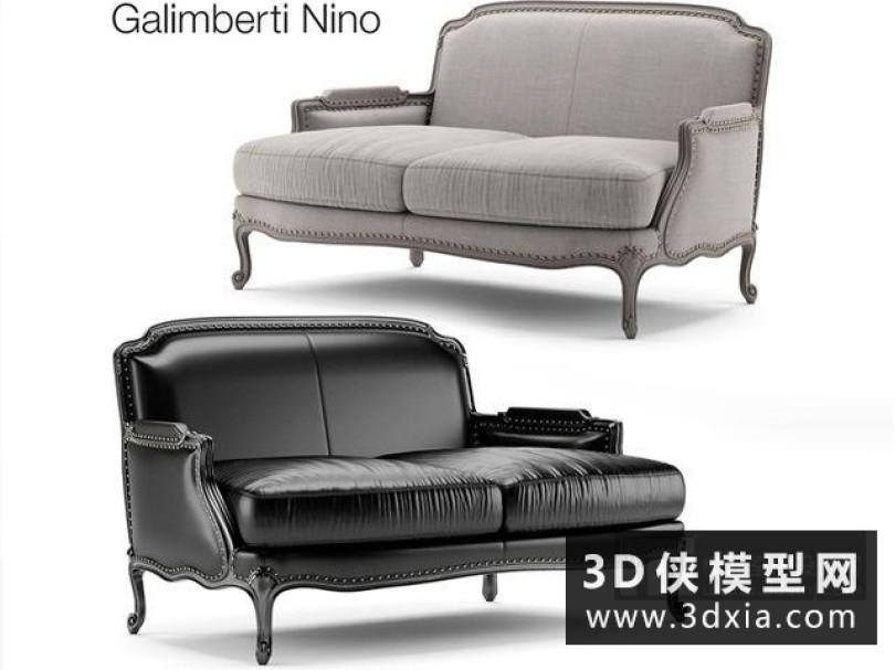 欧式双人沙发