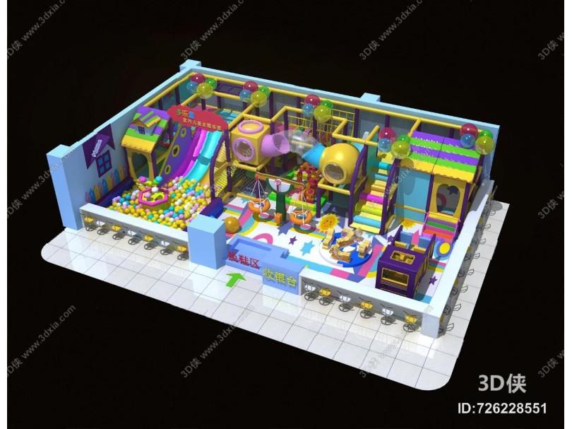 现代游乐场3D模型