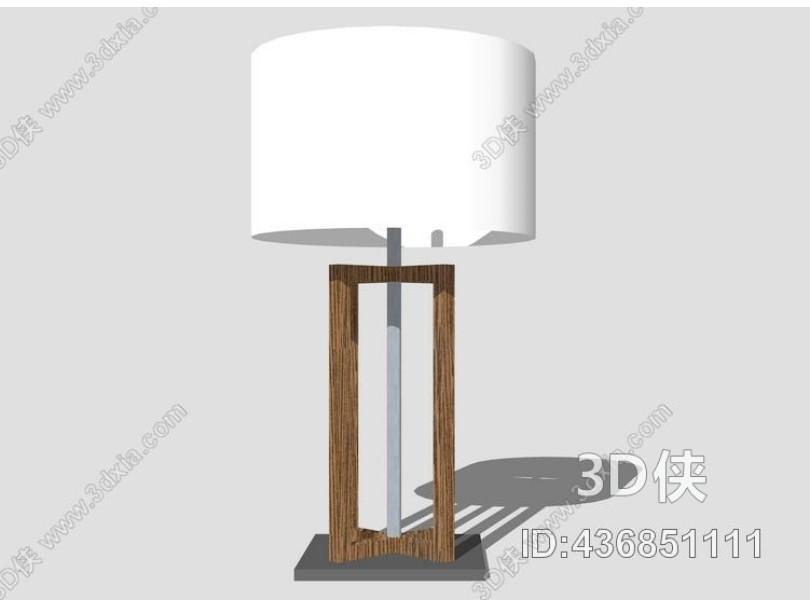 台灯SU模型