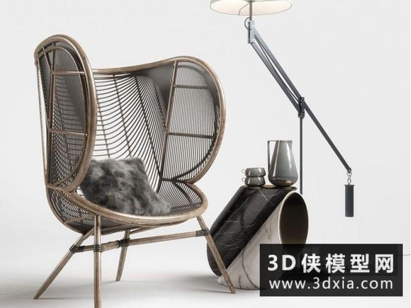 现代藤椅组合
