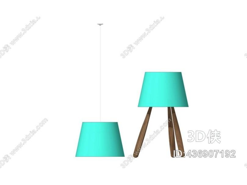 台灯吊打组合SU模型
