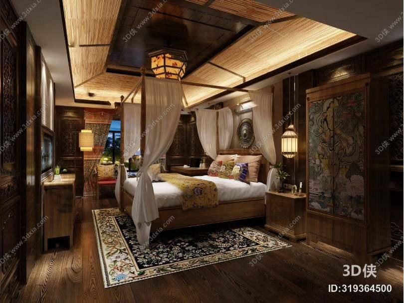 东南亚客房3D模型下载