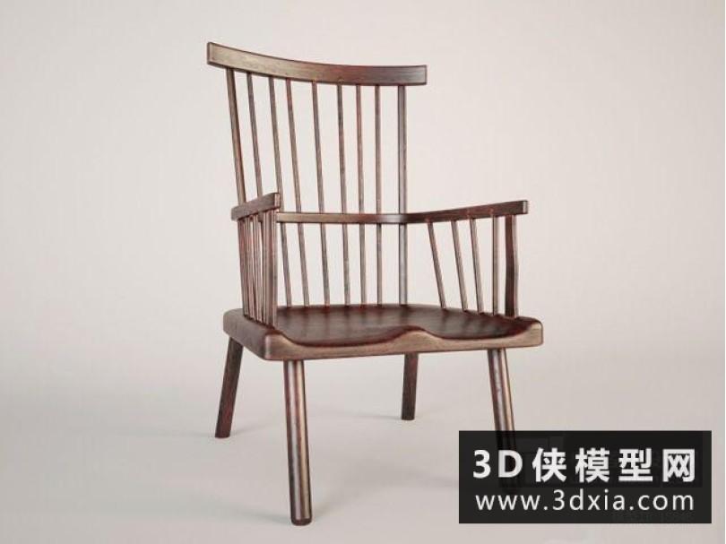 北欧木质椅子