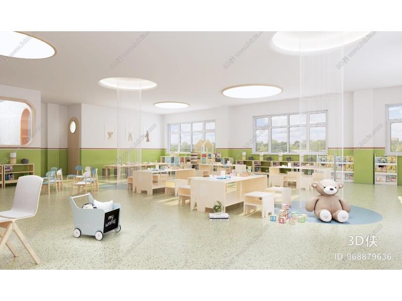 现代幼儿园 活动室 教室