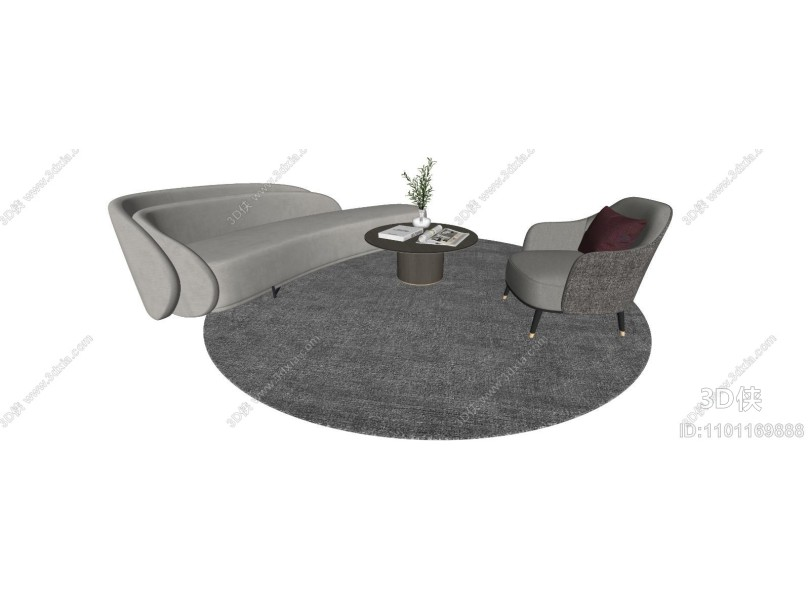 现代异形沙发 茶几 摆件
