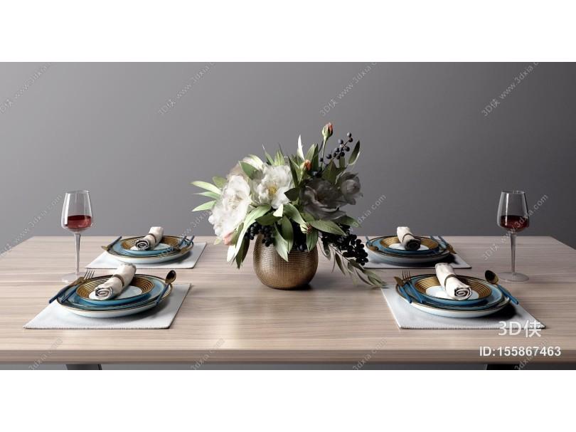 现代餐具花瓶组合