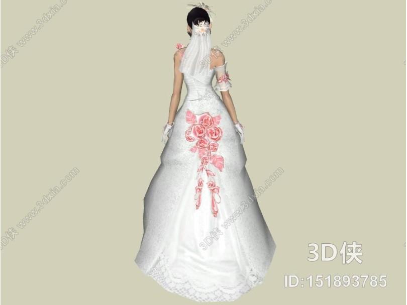 现代新娘模特 人物