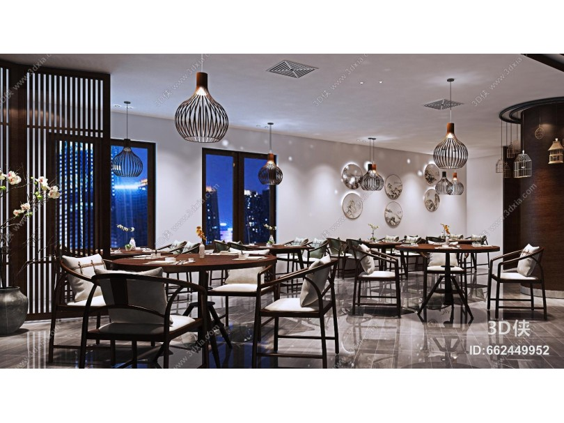 新中式餐厅 大厅