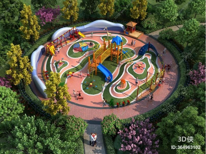 现代园林儿童游乐园 游乐场 游乐器械