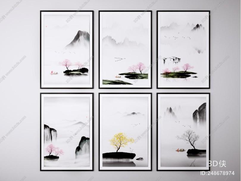 新中式装饰画 挂画