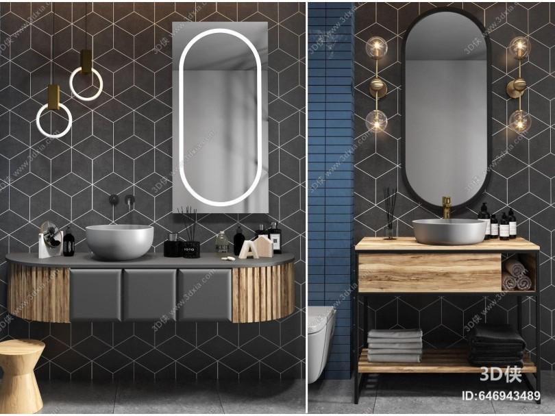 现代简约木质浴室柜