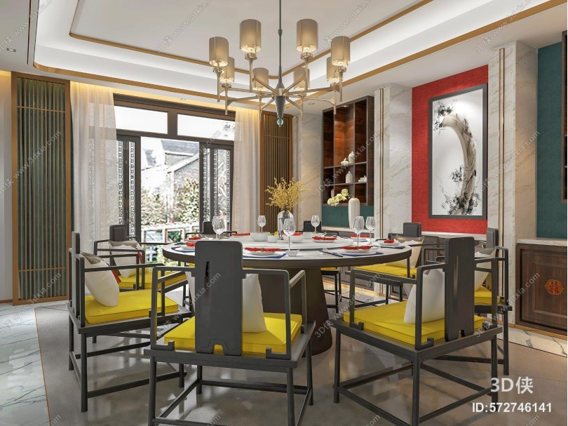 新中式家居餐厅