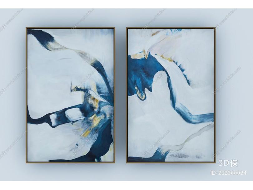 现代抽象油画 装饰画
