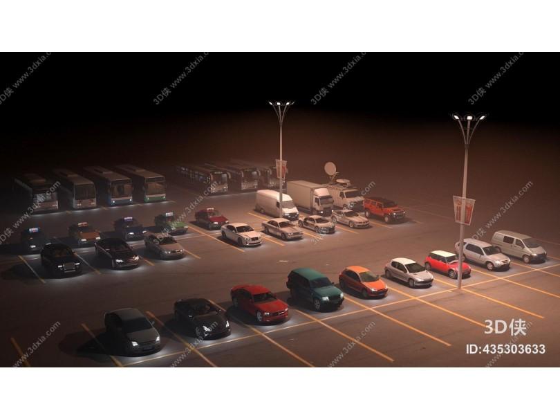 现代汽车夜景