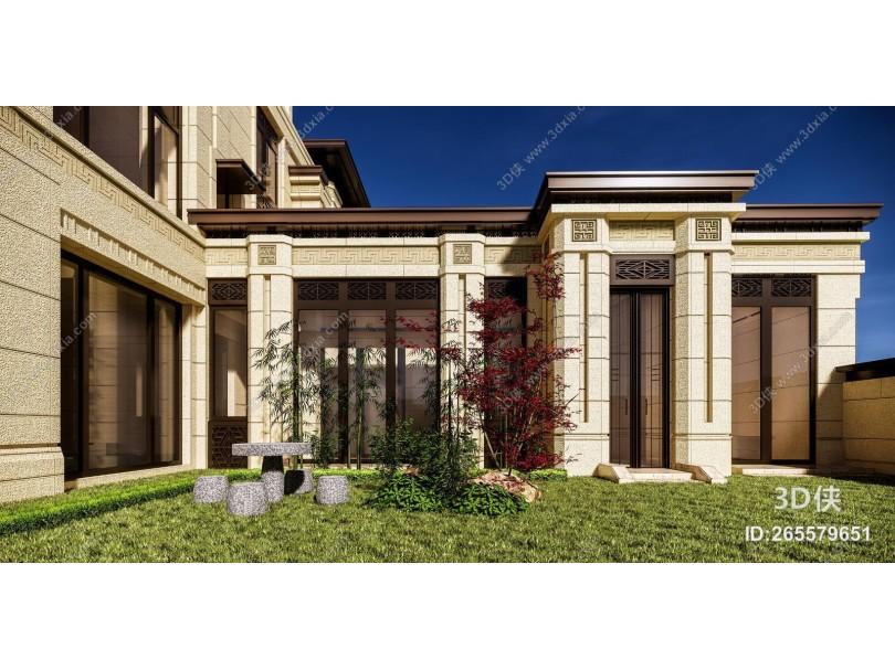 中式别墅绿建豪宅