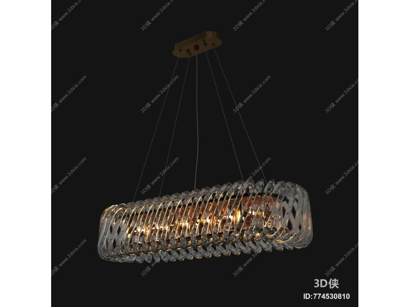 现代长形水晶吊灯