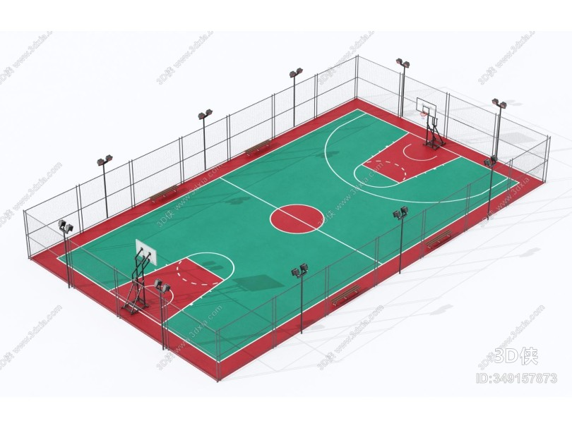 现代户外球场