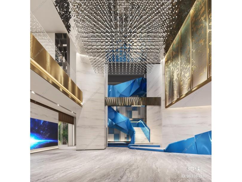 現代展廳大堂 休閑區 樣板間